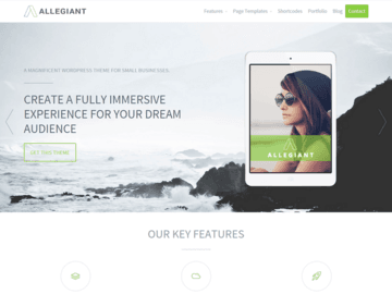 Allegiant WordPress Theme