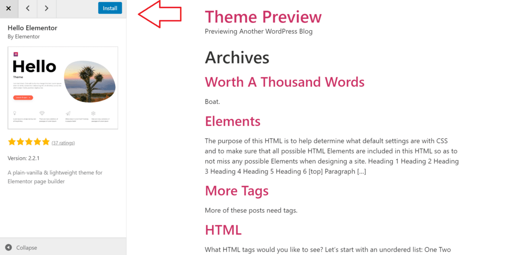 install wordpress theme from repository