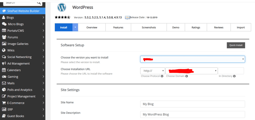 how to install wordpress automatically
