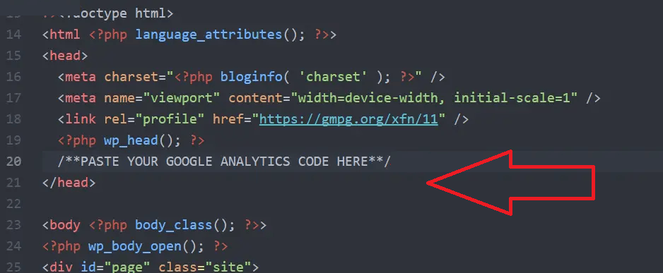 how to add google analytics code n wordpress header
