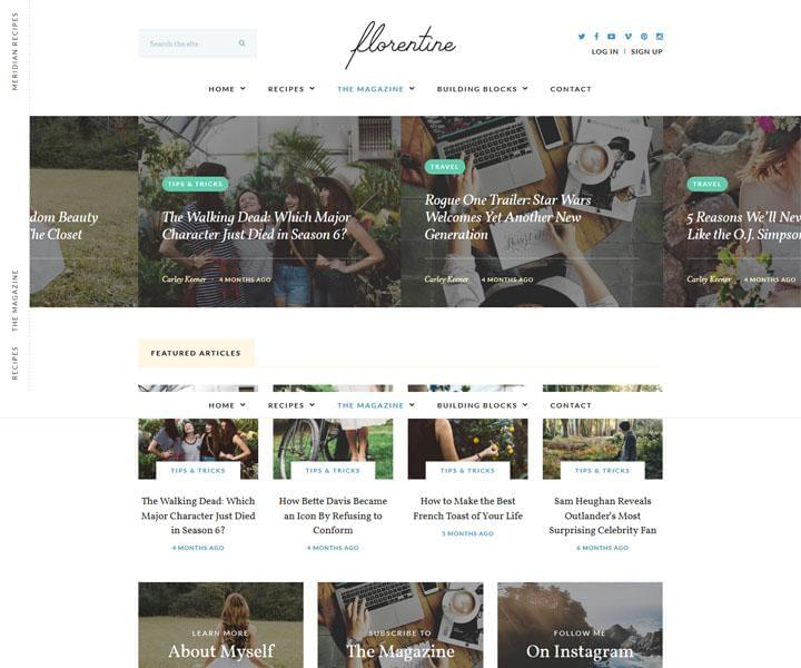 florentine wordpress theme