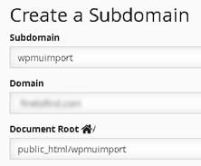 import multisite subdirectories