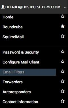 cpanel email filters