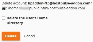 cpanel ftp account
