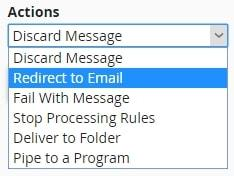 cpanel global email filters