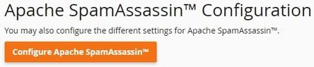 cpanel email spamassassin