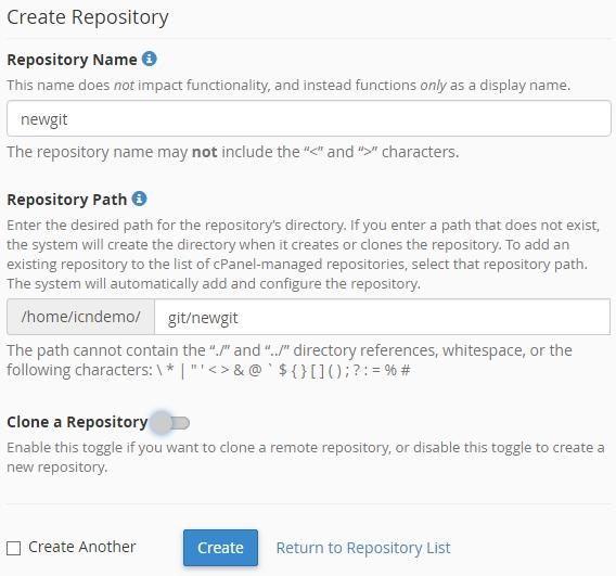 View existing repositories in Git version control
