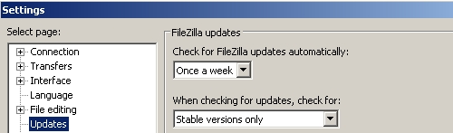 FileZilla update