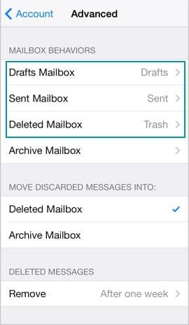 iPhone mail account