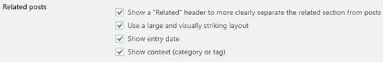Jetpack Related Posts additional settings