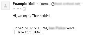 thunderbird mail account