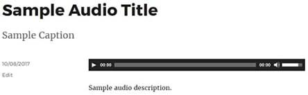 wordpress audio