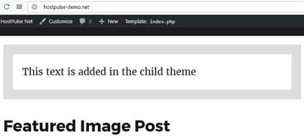 wordpress child theme