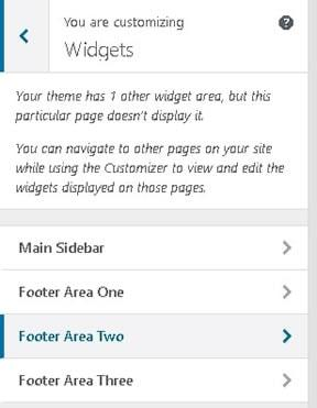 Customizing Widgets section