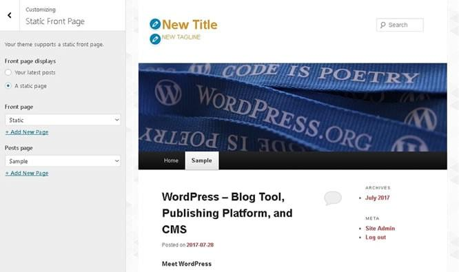 Select how to display the blog posts