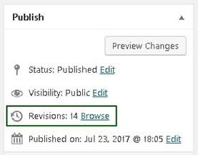 wordpress revisions