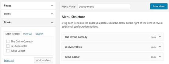 Create books-menu