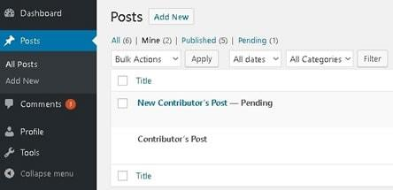 wordpress users roles capabilities